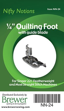 Foot, Singer 221 1/4 inch with blade Nifty Notions