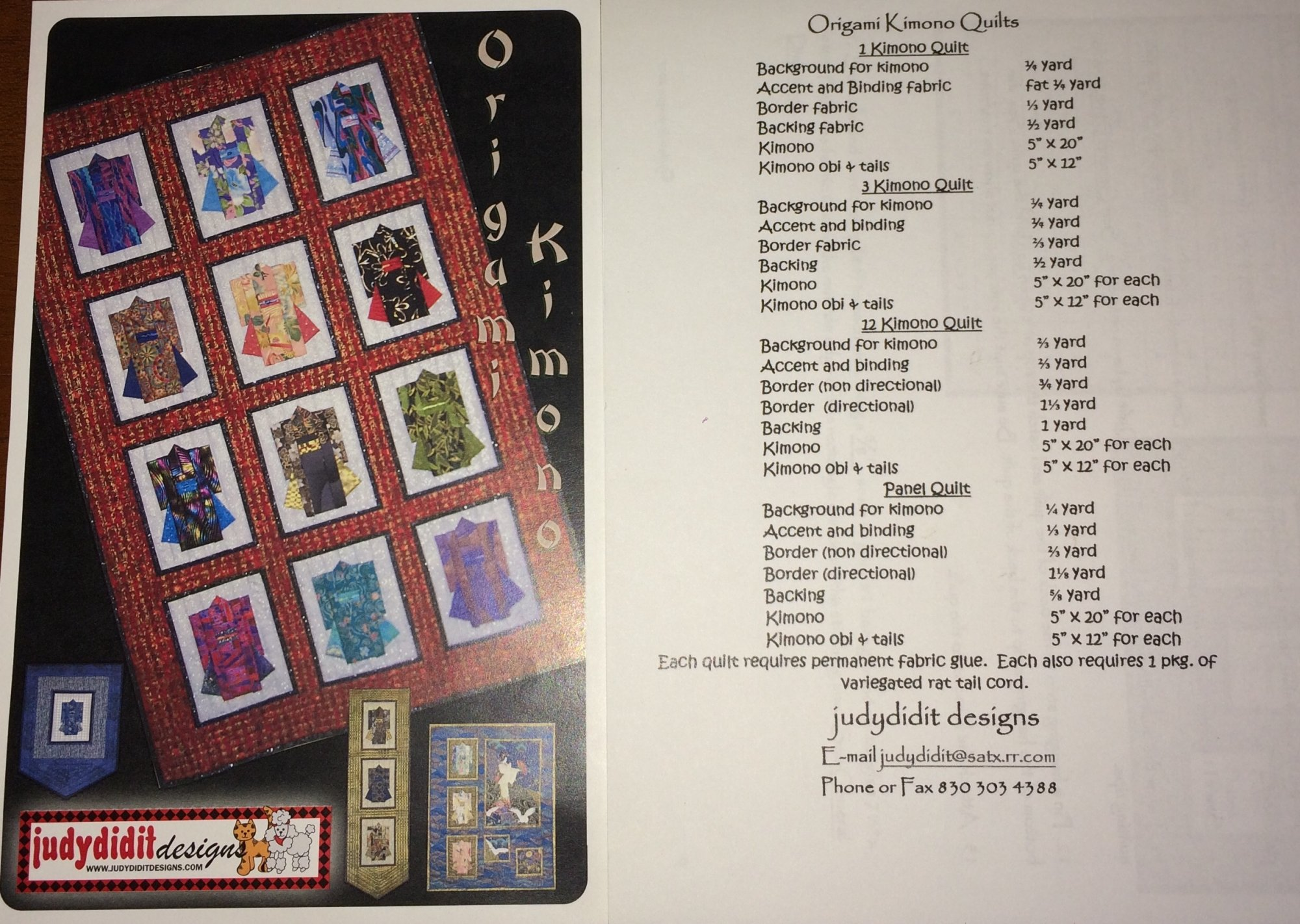 Origami Kimono by Judydidit Designs