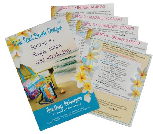 Secrets to snaps, Straps and Interfacings Pink Sand Beach Designs