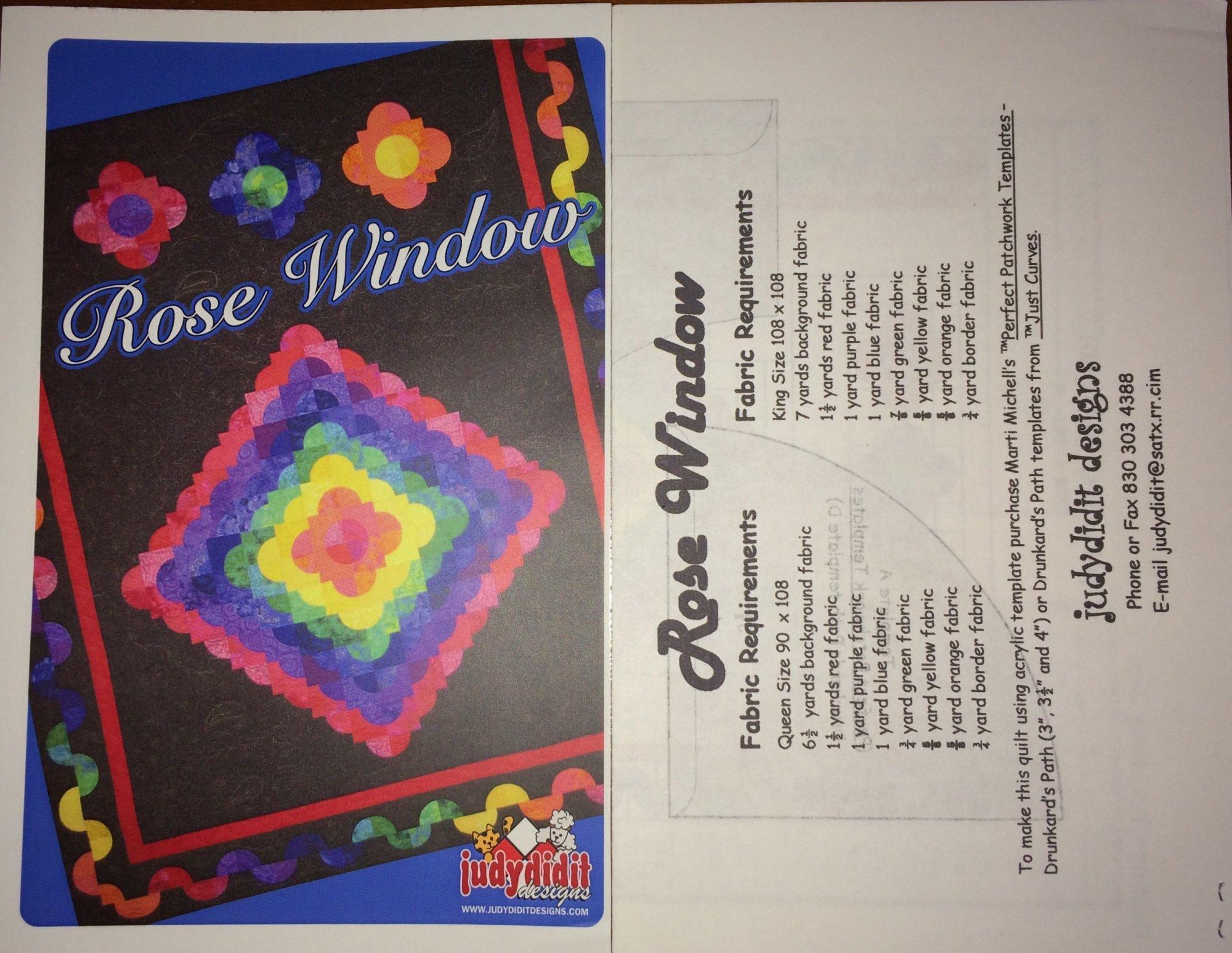 Rose Window by Judydidit Designs