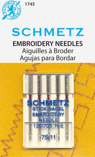 Schmetz Embroidery Needles  Art 1745 size 11/75