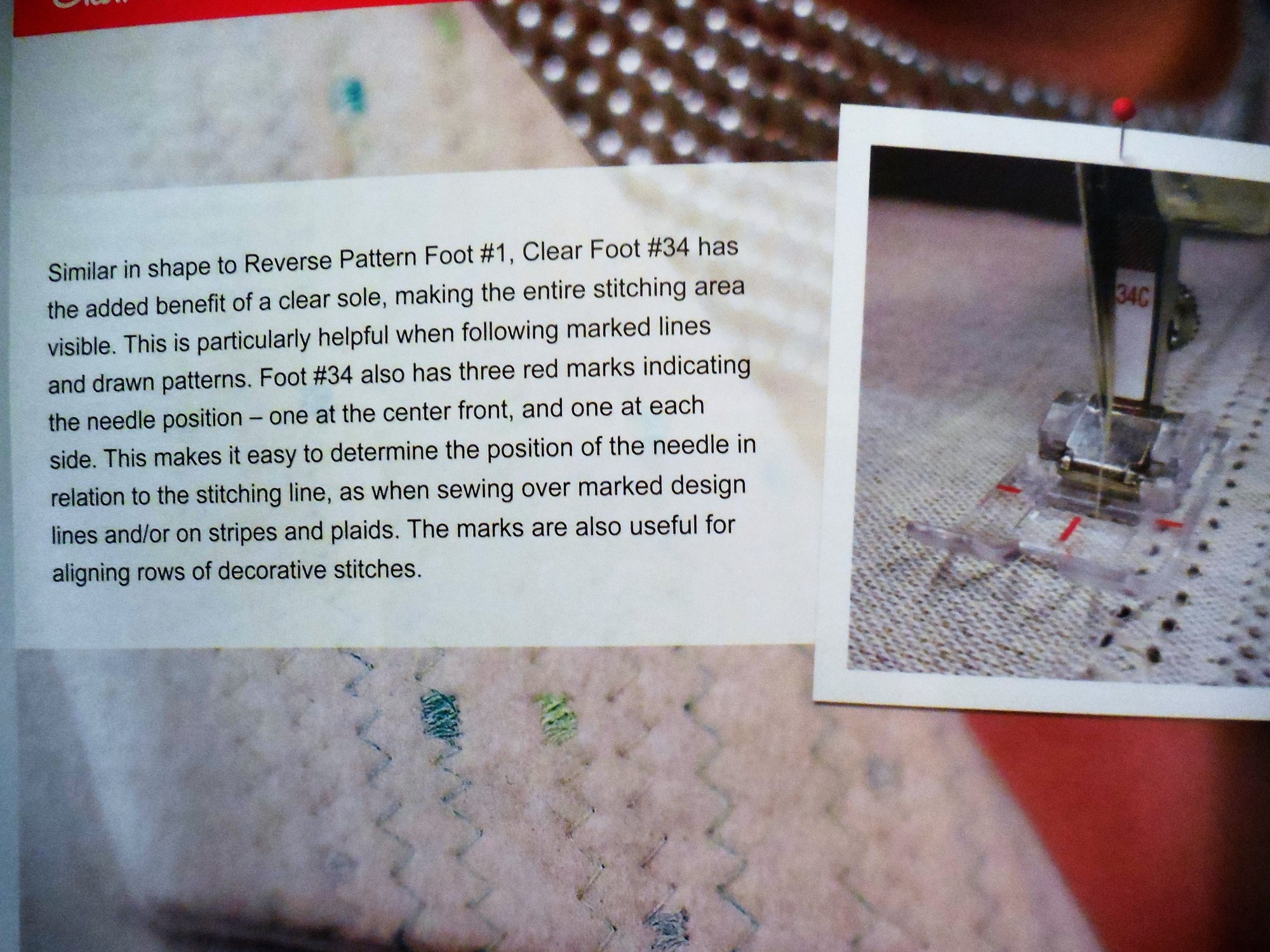 Foot #34, #34C  Reverse Pattern Foot