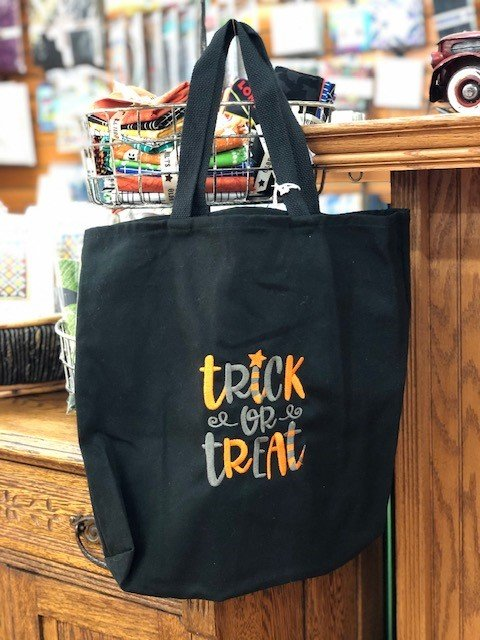 Trick or Treat Embroidered Bag