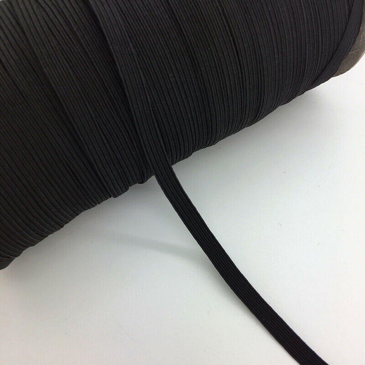 Black 1/4 Elastic