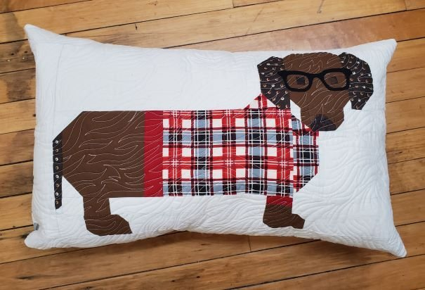 Dogs in Sweaters Pillow Kit