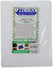 Floriani Stitch N Wash Water Soluble Tearaway Stabilizer