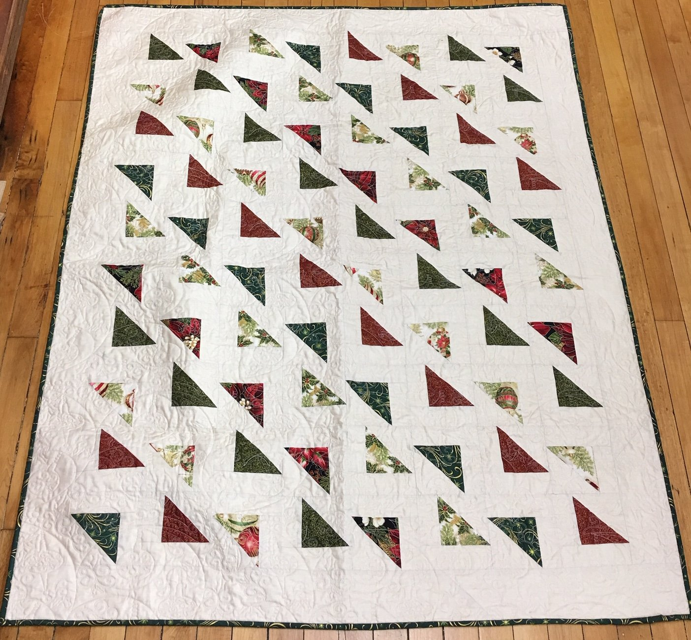 Mod Triangle Christmsas Quilt Kit