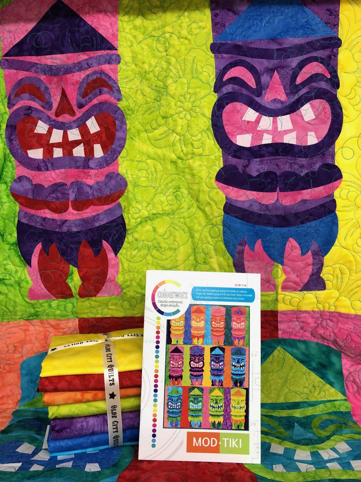 Mod Tiki Batik Quilt Kit