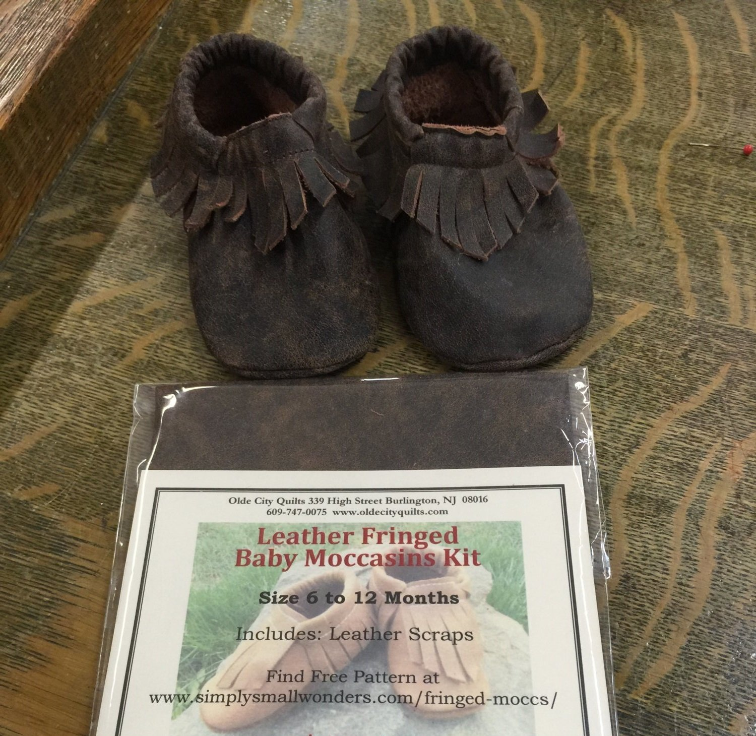 Leather Fringed Baby Moccasins Kit