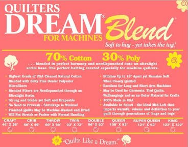 Quilter's Dream Batting Blend - Craft