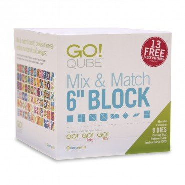Accuquilt Go! Qube Mix & Match 6 Block