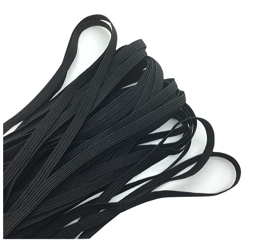 Black 1/4 Elastic - 5 yards
