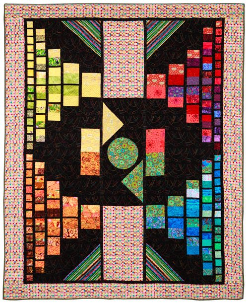 Large Quilts, 2nd Place: 'Cinderella Story' by Marie Deatherage, quilted by Nancy Cyrtain