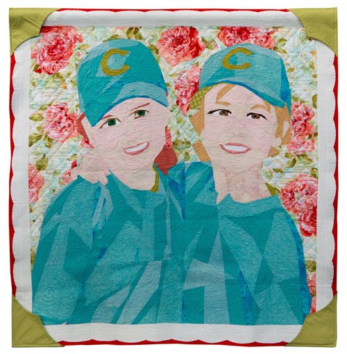 Freehand Quilting, Small, 2nd Place: 'Best Friends Forever' by Susan Palmer