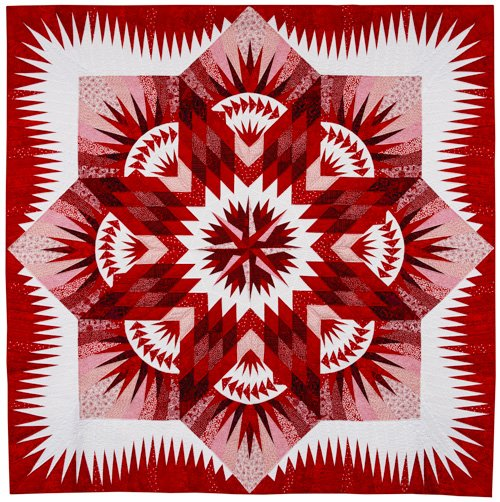 Large Quilts, 1st Place: 'Red Star' by Gerrie Thompson