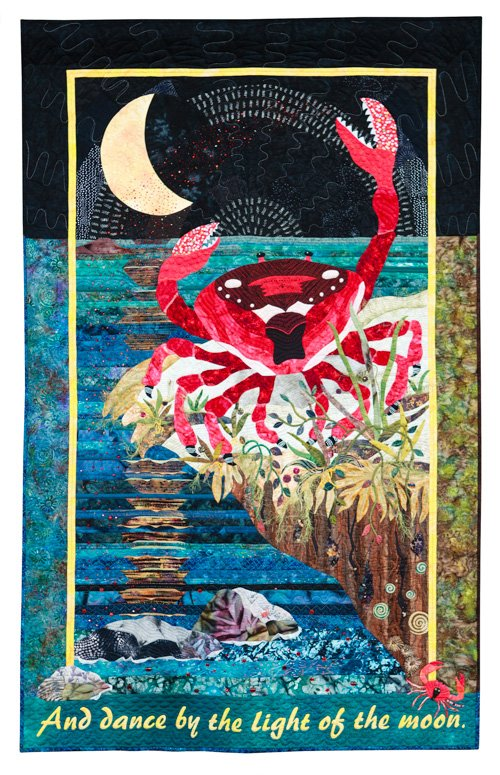 Hand Quilting, 2nd Place: 'Ruby Sue Sews Her Seeds in the Sea' by Marie O'Kelley