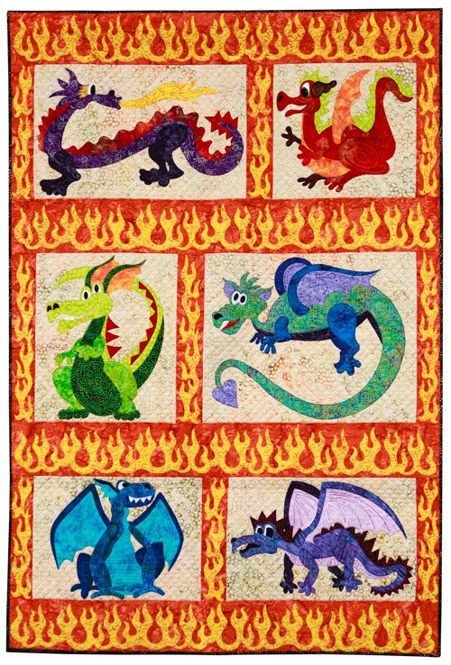 Youth Quilter, 1st Place: 'Playful Dragons' by Dalan Blade