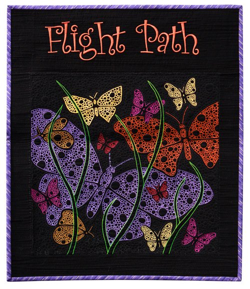 Freehand Quilting, Small, 1st Place: 'Flight Path' by Terry Knott