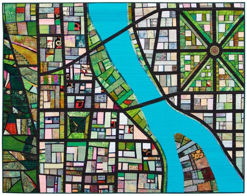 Intermediate Quilts, 2nd Place: 'Portlandia' by Mary Kay Price