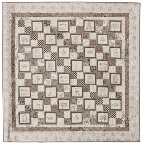 Youth Quilter, 2nd Place: 'La Petite Couette' by Heather Corello