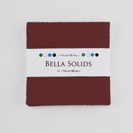 Bella Solids Charm Pack- burgundy