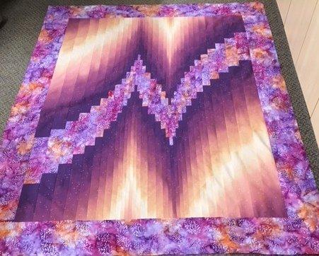 two color bargelllo quilt kit