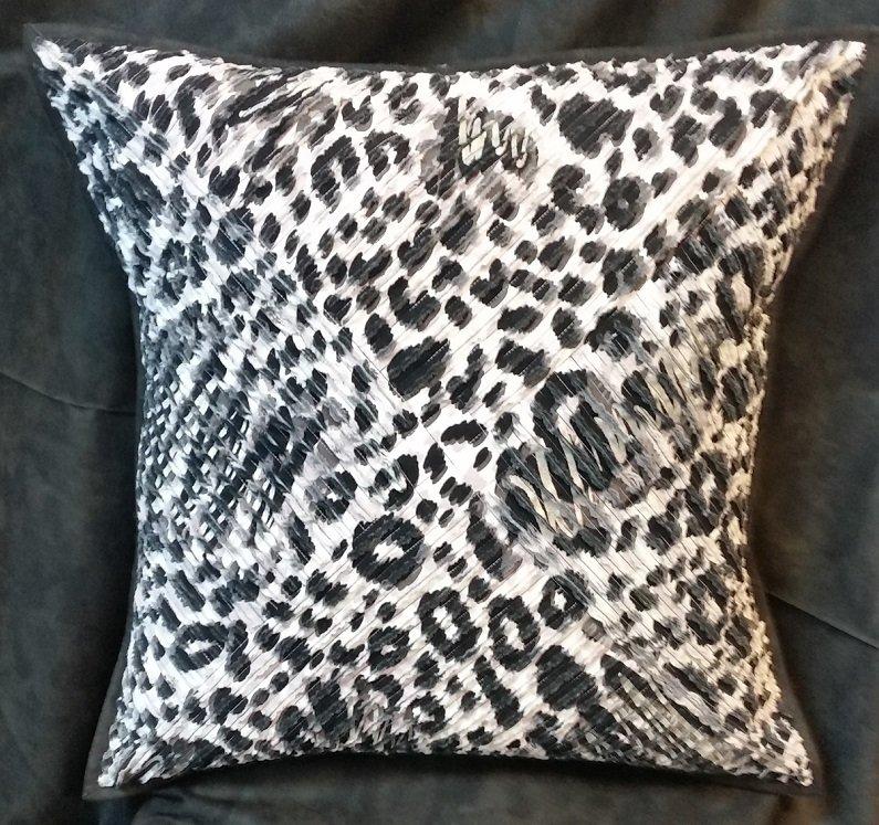 Zebra Chenille Pillow