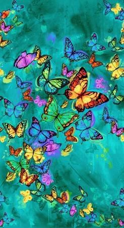 Turquoise Butterfly Panel 24