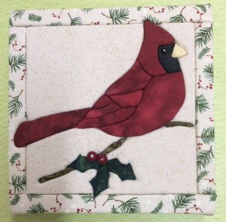 Cardinal Art Board/Fabric Kit