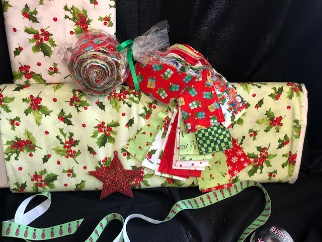 Christmas Holly Jelly Roll  20 strip