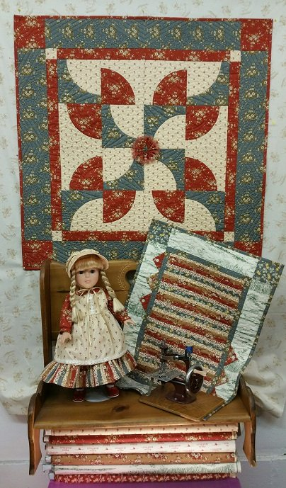 Prairie Pathways quilt, doll dress and doll quilt pattern