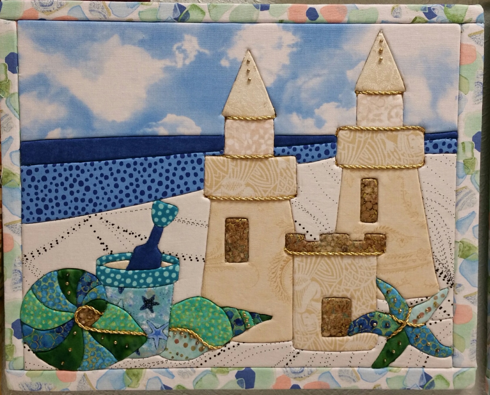 Sandcastle Art Board and Fabric Kit
