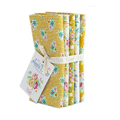 Tilda Yellow/white 5 fat quarter bundle
