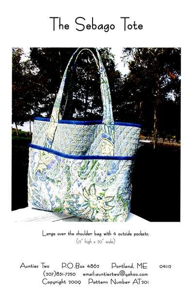 Sebago tote bag pattern
