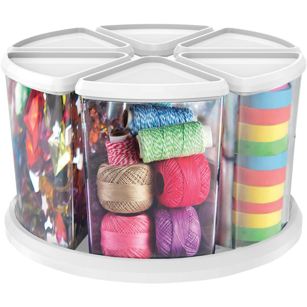 Rotating Organizer W/(6) 6 Canisters