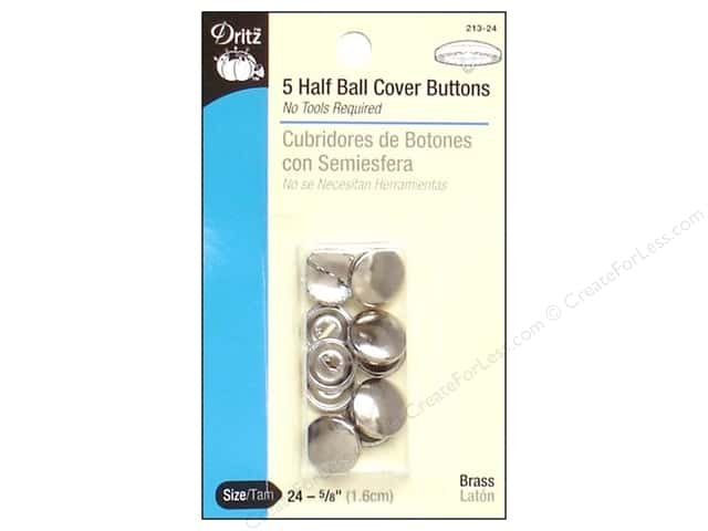 5 HALF BALL COVER BUTTONS