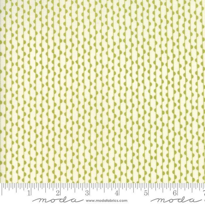 Authentic Etc - green scallop stripe