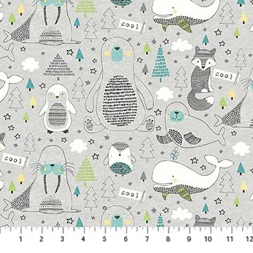 Polar Pals Animals Gray