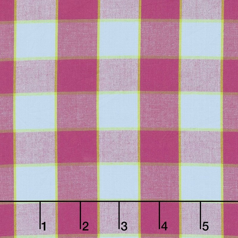 CHECKERBOARD PLAID IKAT - SKY