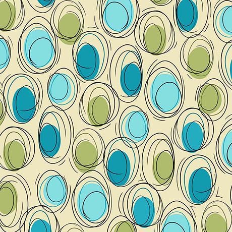 THALIA - CIRCLES AQUA AND GREEN