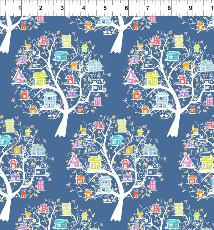 DOODLE BLOSSOMS - TREE HOUSES MULTI