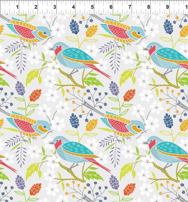 DOODLE BLOSSOMS - BIRDS MULTI