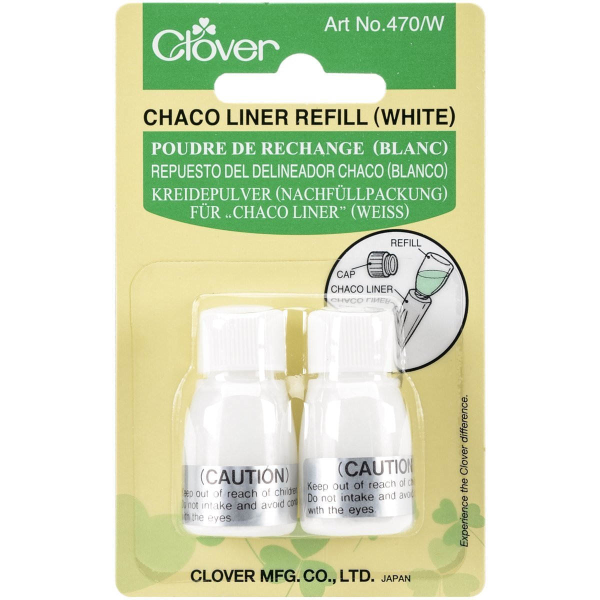 CHALK CHACO LINER REFILL WHT