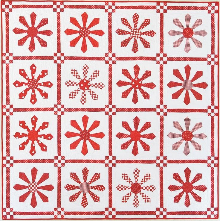 RED DAISY PATTERN