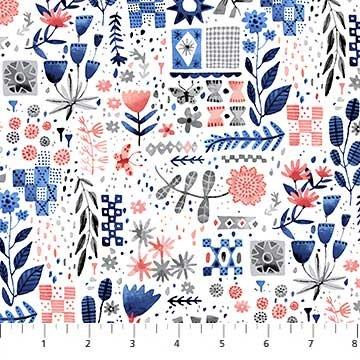 Eloise's Garden White Foral