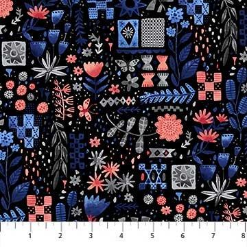 Eloise's Garden Black Floral