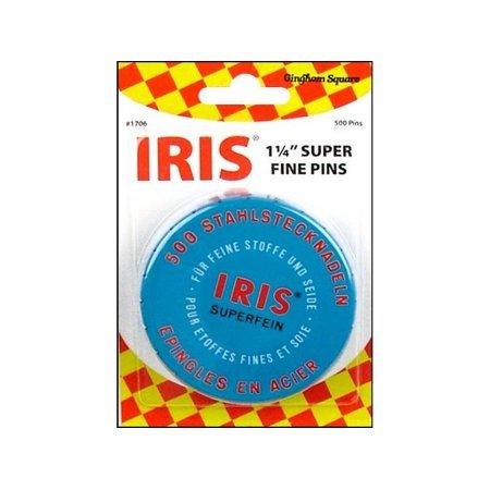 PIN SUPER FINE IRIS  1.25IN 500CT