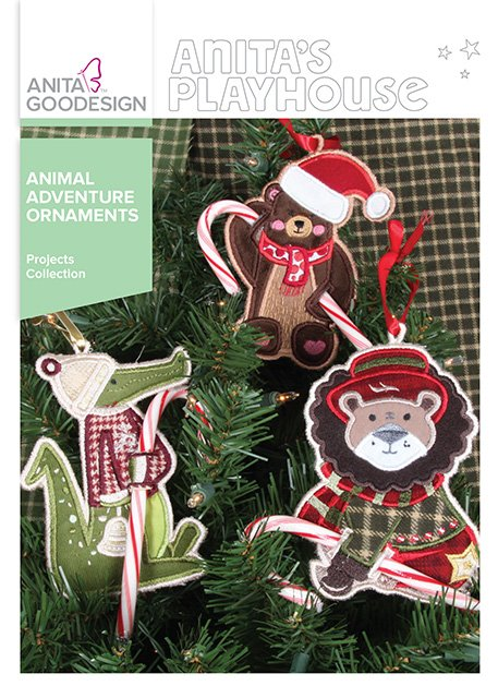 ANITA GOODESIGN - ANIMAL ADVENTURE ORNAMENTS