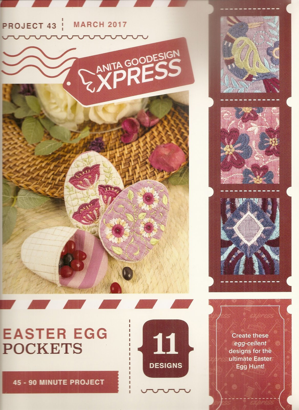 Anita Goodesign - Express #43 - Easter Egg Pockets