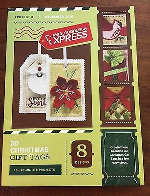 ANITA GOODESIGN - EXPRESS PROJECT #3 - 3D CHRISTMAS GIFT TAGS